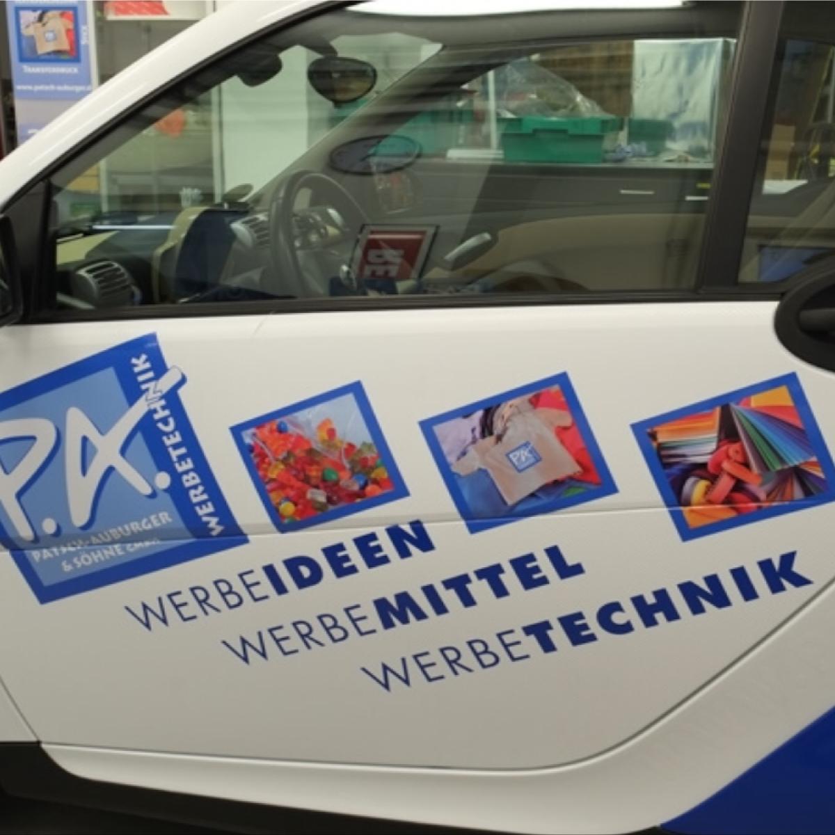 Fahrzeugbeschriftung - Haus der Werbung München